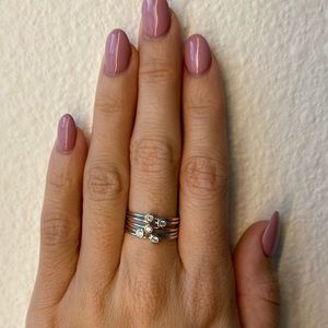 Sterling silver stacked ring set